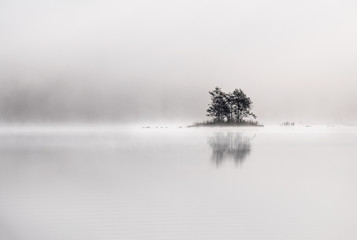 Peaceful and simple view from island at the lake in National Park, Finland. - 171988369