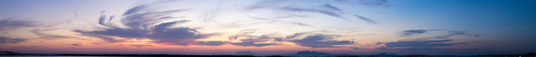 Late Sunset Horizon Sky