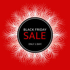 Black Friday sale banner vector. Special offer background for fashion store promo flyer, online shopping tag or holiday weekend label.
