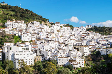 Typical andalusian white village Casares