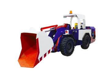 Modern Bulldozer, isolated on white background