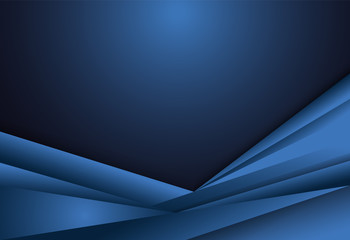 Blue gradient geometric background material design overlap layer  illustration