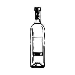 Wall Mural - illustration of wine bottle
