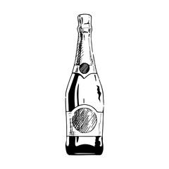 Wall Mural - illustration of champagne bottle