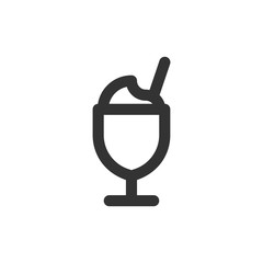 Coffee Line - Iced Latte Icon
