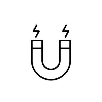 magnet sign line black icon
