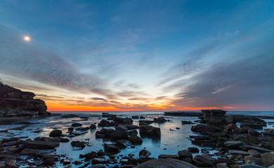 Rocky Daybreak Seascape