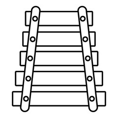 Xylophone icon , outline style