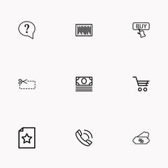 E-commerce line icon set