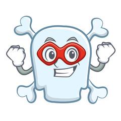 Super hero skull character cartoon style