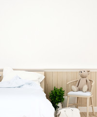 bedroom or kid room in home or apartment - 3D Rendering