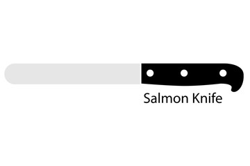 Salmon Knife, Isolated on White