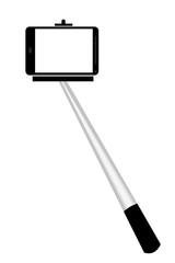 Selfie Stick, Isolated on White