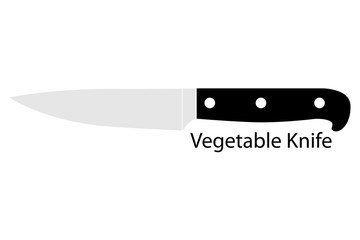 Vegetable Knife, Isolated on White