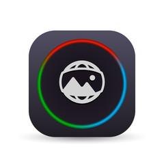 Dark MultiColor Web Button