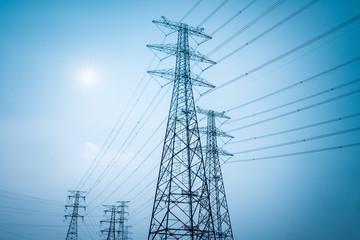 electricity transmission closeup