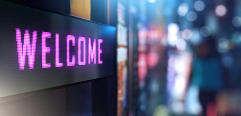 LED Signage - Welcome