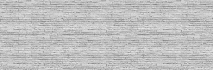 horizontal modern white brick wall for pattern and background