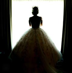 silhouette  Bride