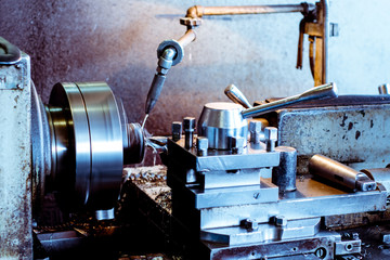Deep drilling of parts on a lathe. Shooting in real conditions