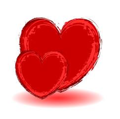 Grunge Hearts - Clip-art vector illustration