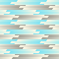 Seamless Horizontal Line Background. Vector Blue and Black Texture