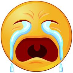 Crying or sad emoji or emoticon vector image
