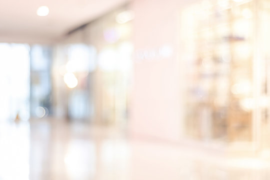 Blur store with bokeh background, business background