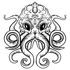 Octopus Ink Illustration tattoo sketch octopus