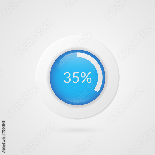 35 percent pie chart percentage vector infographics circle diagram percentage vector infographics circle diagram isolated symbol business illustration ccuart Choice Image