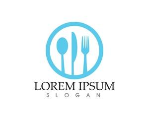 Restaurant food logo Template. Vector illustration.