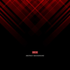 Abstract black and red technology design. Vector corporate geometric lines background with copy space, Vector