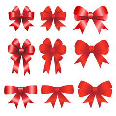 Red ribbons christmas