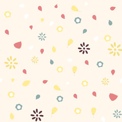 cute floral pattern, vector background
