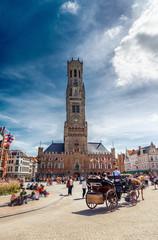 Foto op Canvas Brugge Grote Markt square in Brugge, Belgium