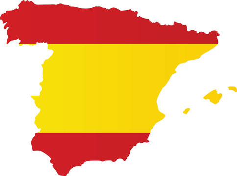 Spain flag map. vector illustration