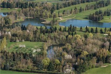 Vue aérienne du golf de Nantilly en Eure-et-Loir en France