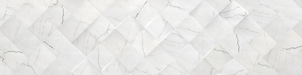 White Wide Marble Background (3d illustration) Wall mural