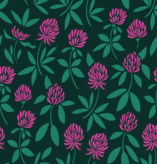 Seamless vector pattern with flowers. Nature background. Floral texture