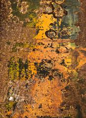 Pittura astratta di ruggine sul ferro