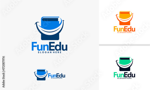 fun education logo designs vector stock image and royalty free