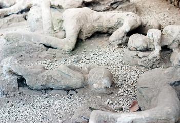A victim in Pompeii of the eruption of Mt Vesuvius