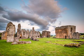 Aluminium Prints Ruins Egglestone Abbey Ruins / The remains of Egglestone Abbey on the banks of River Tees, near Barnard Castle in County Durham