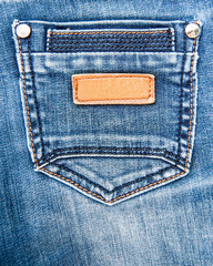 details of denim overalls