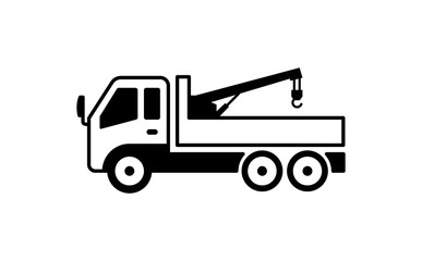 crane truck illustration