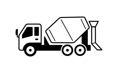 concrete mixer truck illustration