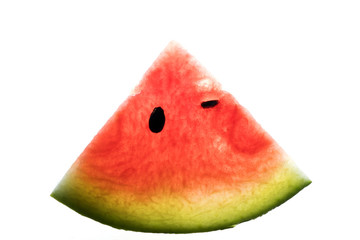 Watermelon fruit on white background.