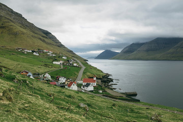 Scenic view of Kunoy village