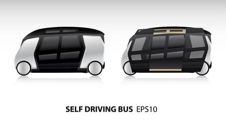 Self driving bus. Vector illustration EPS10