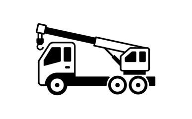 crane truck illustration